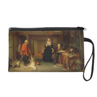 Paying the Tithe (oil on panel) Wristlet Purses
