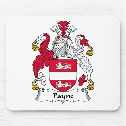 Payne Family Crest Mouse Mat