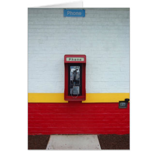 Payphone 5x7 greeting card