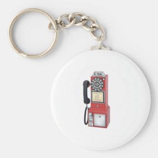 PAYPHONE BASIC ROUND BUTTON KEY RING