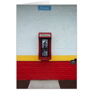 Payphone Note Greeting Card