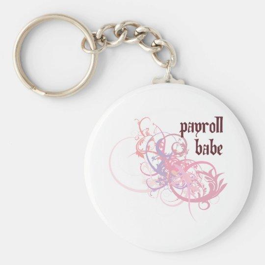 Payroll Babe Basic Round Button Key Ring