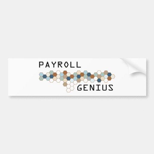 Payroll Genius Bumper Sticker