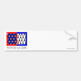Pays-de-la-Loire flag with name Bumper Sticker