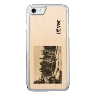 Paysage d'Hiver Winter in Jura France mountains Carved iPhone 8/7 Case