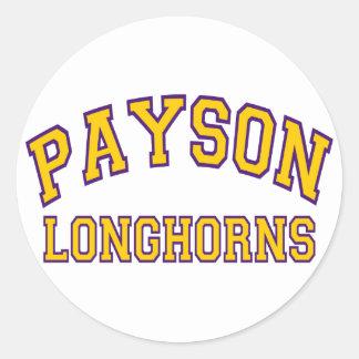 Payson Longhorns Round Sticker