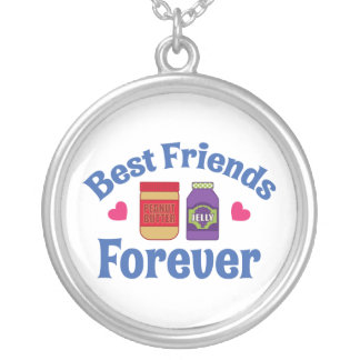 PB&J BFF SILVER PLATED NECKLACE