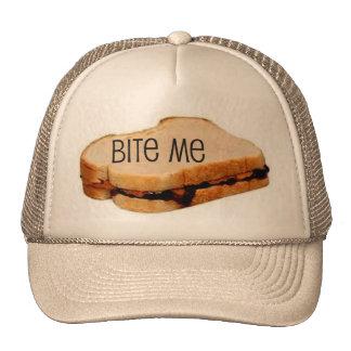 PB J BITE ME SANDWICH PRINT TRUCKER HAT