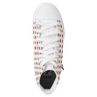 PB & J High Tops - Custom Color Printed Shoes