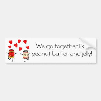 """""""PB&J Love"""" Bumper Sticker"""
