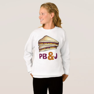 PB&J Peanut Butter and Jelly Sandwich Sweatshirt