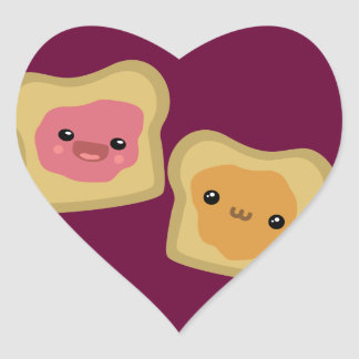 PB&J Toast Heart Sticker