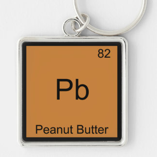 Pb - Peanut Butter Funny Element Chemistry T-Shirt Key Ring
