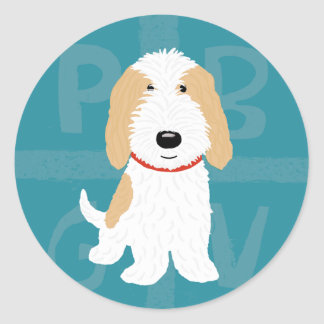 PBGV Cute Cartoon Classic Round Sticker