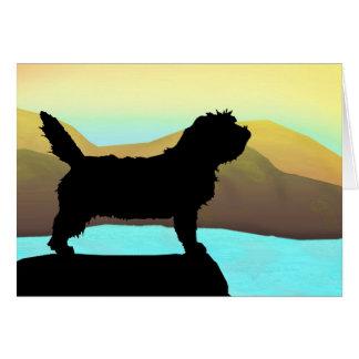 PBGV Dog By The Sea Greeting Card