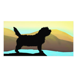 PBGV Dog By The Sea Personalized Photo Card
