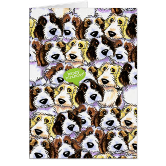 PBGV Dogs Funny Birthday Greeting Card