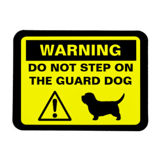 PBGV Guard Dog Warning Rectangular Photo Magnet