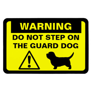 PBGV Humorous Guard Dog Warning Rectangular Photo Magnet