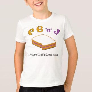 PBJ ... cause that's how I roll. Kids Ringer tee