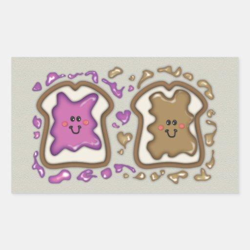 PBJ Sandwiches Rectangle Stickers