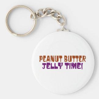 Pbj Time Basic Round Button Key Ring