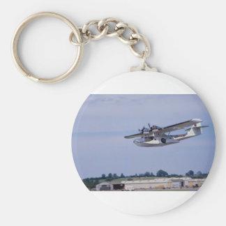 PBY, 5A Catalina, World War II reconnaissance flyi Basic Round Button Key Ring