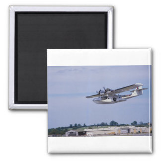 PBY, 5A Catalina, World War II reconnaissance flyi Square Magnet