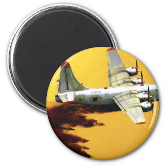 PBY Firefighter Aircraft 6 Cm Round Magnet