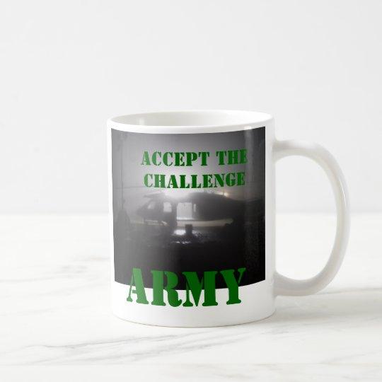 PC010061, ACCEPT THE CHALLENGE, ARMY COFFEE MUG