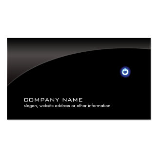 PC Computer Repair Technician Simple Black Pack Of Standard Business Cards