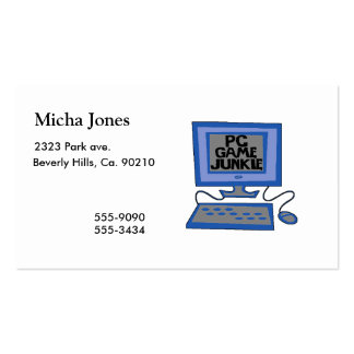 PC Game Junkie Business Card