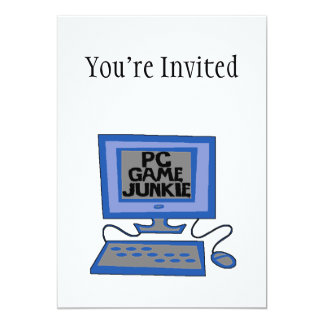 PC Game Junkie 13 Cm X 18 Cm Invitation Card