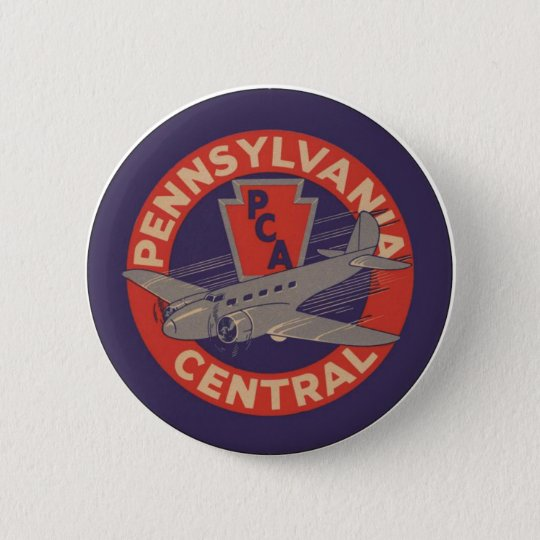 PCA Pennsylvania Central 6 Cm Round Badge