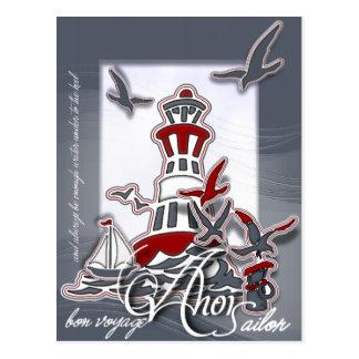 PCard H Ahoi Sailor Postkarten
