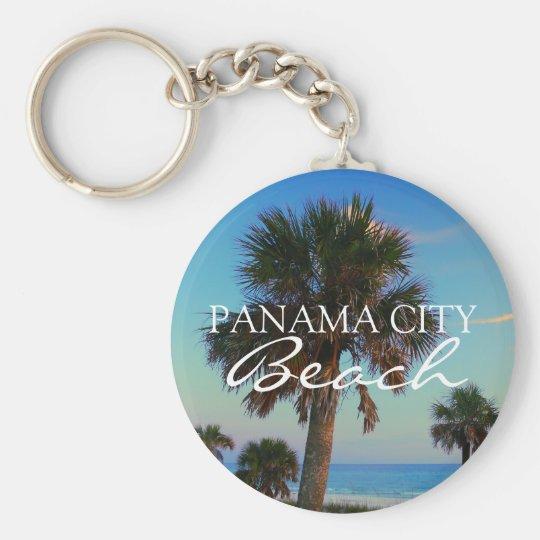 PCB Panama City Beach Florida Value Keyring Basic Round Button Key Ring