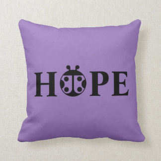 "PCDH19 Alliance ""Hope"" Throw Pillow"