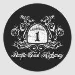 PCH Highway Sign Classic Round Sticker