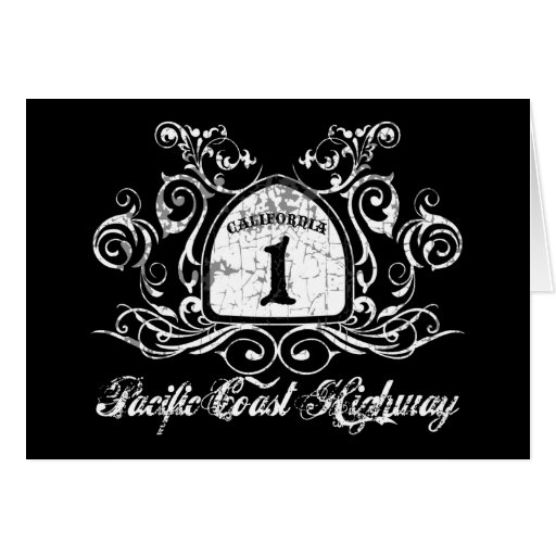 PCH Highway Sign Greeting Card