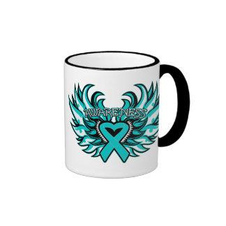 PCOS Awareness Heart Wings.png Coffee Mugs