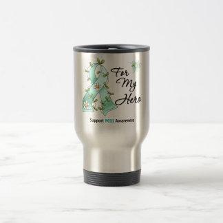 PCOS Awareness I Wear PCOS Ribbon For My Hero Coffee Mugs