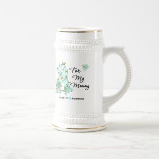 PCOS Awareness I Wear PCOS Ribbon For My Mommy 18 Oz Beer Stein