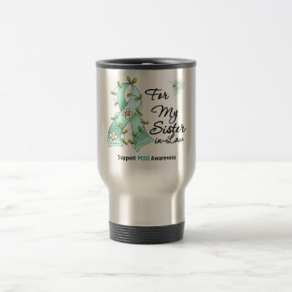 PCOS Awareness I Wear PCOS Ribbon Sister-in-Law Coffee Mugs