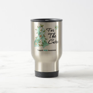PCOS Awareness I Wear Teal Ribbon For the CURE Coffee Mug