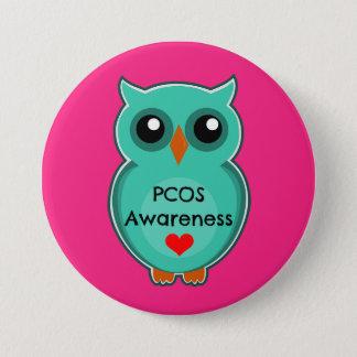 PCOS Awareness Owl Button