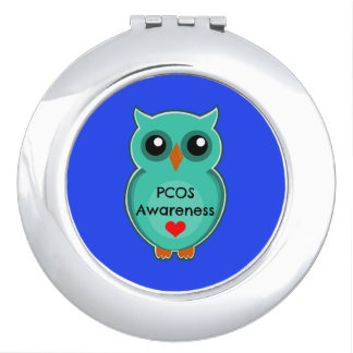 PCOS Awareness Owl Compact Mirror