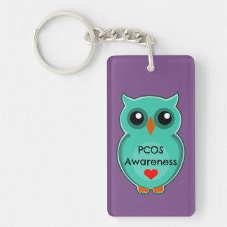 PCOS Awareness Owl Keychain