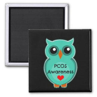 PCOS Awareness Owl Magnet