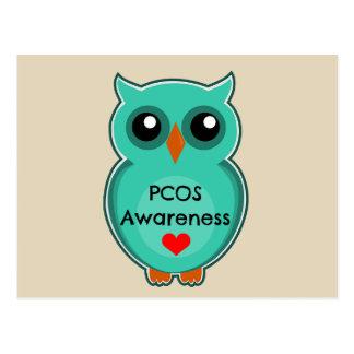 PCOS Awareness Owl Postcard