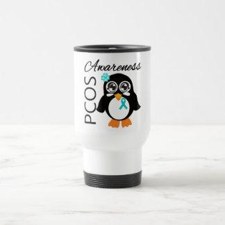 PCOS Awareness Penguin 15 Oz Stainless Steel Travel Mug
